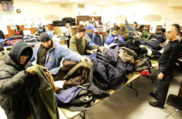 """These coats would probably keep us warmer if they hadn't been donated by Christians."""